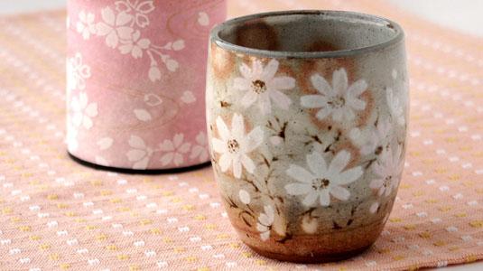 手作り秋桜湯のみ イメージ