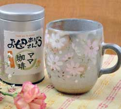 ママ珈琲と秋桜 マグカップ