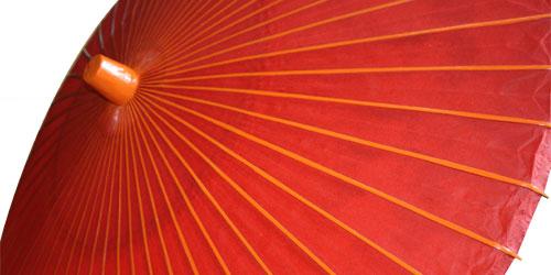 野点傘の上の写真