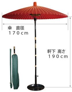 野点傘のサイズ