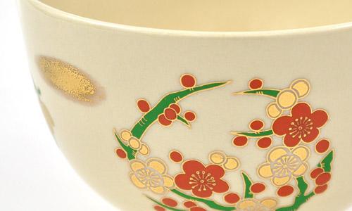 抹茶碗 美濃焼 「四君子」