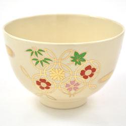 抹茶碗 美濃焼 「花七宝」