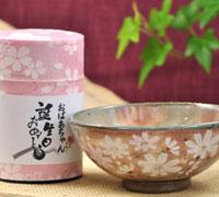 煎茶と秋桜お茶碗セット