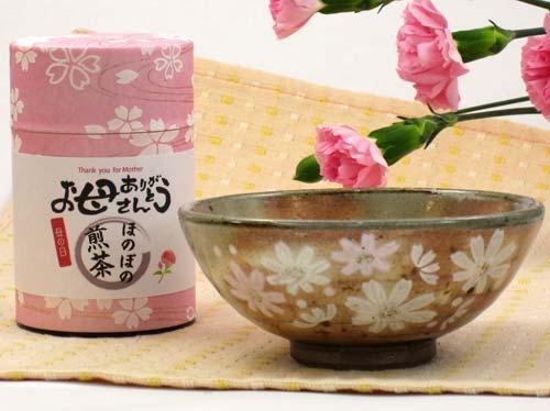 母の日 ご飯茶碗と煎茶セット